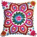 Hand Embroidered Suzani Square Pillow Cushion Cover