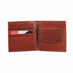 Brown Male Goat Leather Gents Wallet, Card Slots: 4