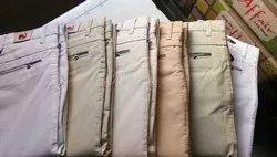 Formal Wear Men Plain Cotton Trouser, Size: 28-36
