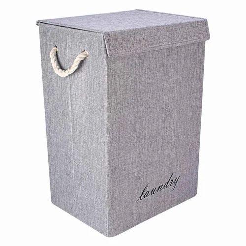 Jute Khaki Foldable Cloth Laundry Bag Hamper