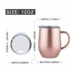 Steel Mug With Lid