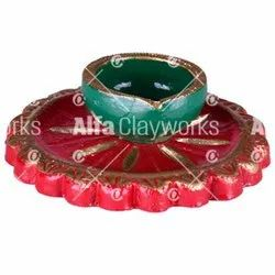 Clay Painted Diya