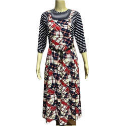 Casual Wear 3/4th Sleeves Ladies Western Dress
