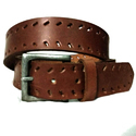 Brown And Design Leather Belt