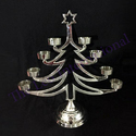 Silver Aluminium Decorative Christmas Tree Shape Candle Holder For Christmas Decoration