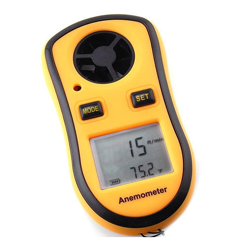 Anemometer With Temp. Measurement