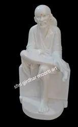 White Stone Marble Sai Baba Statue