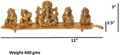 Return Gift Sitting Ganesha Gold Plated Metal Statue