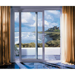Horizontal UPVC Sliding Door, Height: 6 to 7 feet