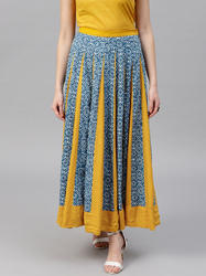 Printed Flared Skirt