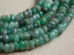 Emerald Faceted Beads