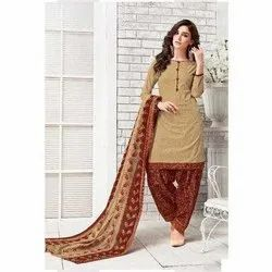 Stitched Patiyaala Ladies Patiala Cotton Salwar Suits, Wash Care: Handwash