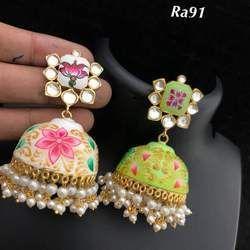 Hand made meena Earrings