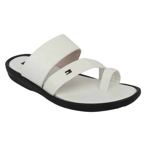 White Vincenzo Men's Leather Slippers