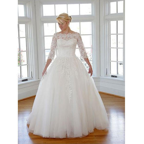 Christian Wedding Gown: Satin White Christian Wedding Gowns, Rs 30000 /piece, S.B