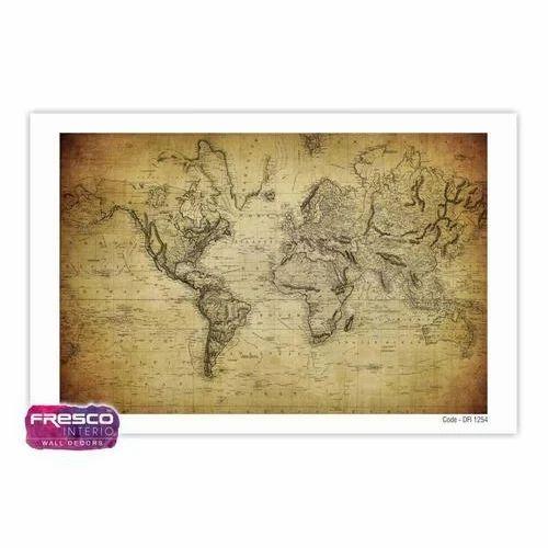 Pvc Kids Room World Map Wallpaper Rs 65 Square Feet Fresco