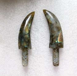 Natural Labradorite Hand Carved Gemstone Knife