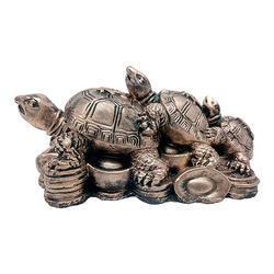 Antique Look Tortoise/ Turtle Showpiece Decorative Gift Item