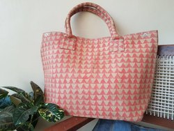 Hand Block Printed Cotton Designer Tote Bags
