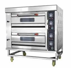 2 Deck And 4 Tray Modern Bakery Gas Oven With