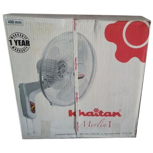 White 400 Mm Khaitan Wall Fan, Warranty: 1 Year