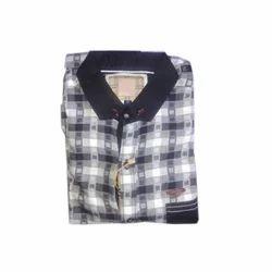 Mens Cotton Check Shirt, Size: S to XL