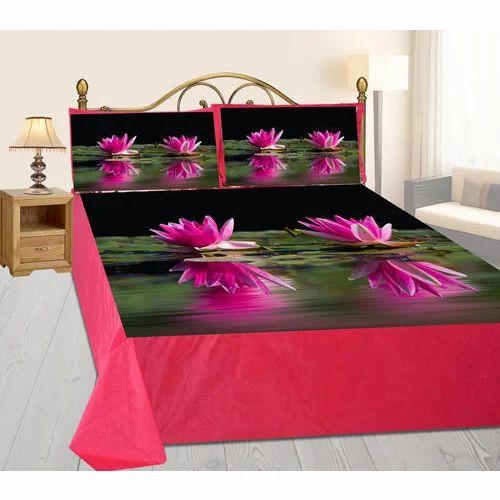 Elegant Digital Printed Velvet Printed Bedsheet