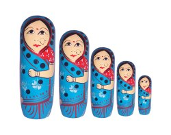 Wooden Nesting Doll Set