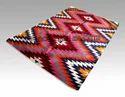 Abstract Rectangular Hand Woven Kilim Carpet
