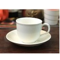 Ceramic White Cup and Saucer
