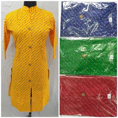 Woman Non-Stretchable Cotton Printed Kurti
