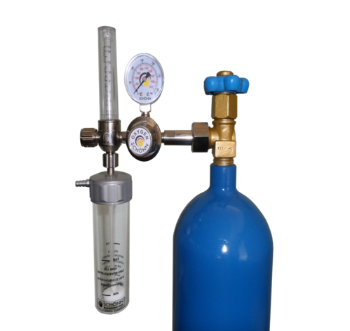 Oxygen Regulator With Flow Meter