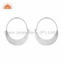 925 Sterling Fine Silver Designer Chand Bali Hoop Earring Jewelry