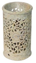 Soapstone Pen Holder With Jaali Work