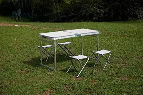 Mild Steel Rk Foldable Picnic Table Size Top 120 X 60 Cm