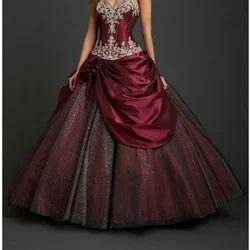 Maroon M Wedding Gowns