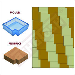 PVC Moulds For Paver Blocks Square With Slot Sand