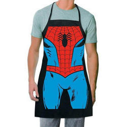 Blue Avengers Superhero Printed Apron