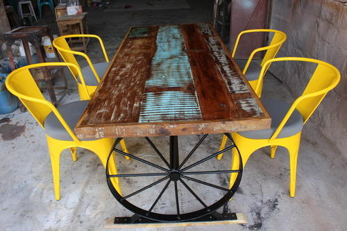 Vintage Metal Cycle Wind Wheel Type Dining Table Size 120x80x75 Cm Id 18182117612