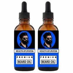 Health Ayurveda Beard Growth Oil 80ml Pack of 2