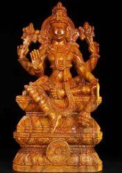 Lord Vishnu Wooden Statue
