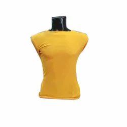 Cotton Mens Yellow T Shirt