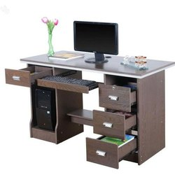 Modern Brown Wooden Computer Table