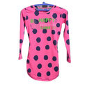 Round Neck Dotted Girl Top