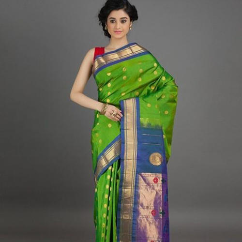 316c424aca6 Green Base Wedding Wear Wedding Paithani Saree