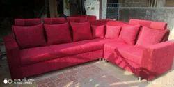 Red Designer L Shape Sofa Set