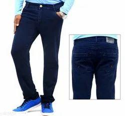 Mens Comfy Sholid Denim Jeans