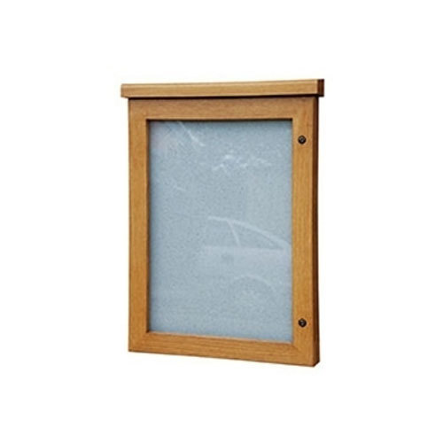 Felt Brown Locakable Wooden Frame Notice Board, Frame Material: Wood ...