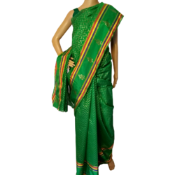 Printed Green Chanderi Saree