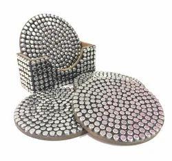 Silver Coaster Set Corporate Gift Item Tea Coaster Home Decor Drink Holder